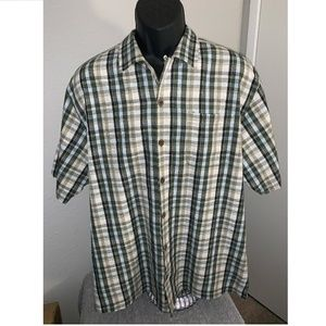 Tommy Bahama Mens Check button front Shirt Large